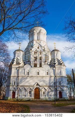 Christian Orthodox Church of Beheading of St. John the Forerunner in Kolomenskoye Russia Moscow.