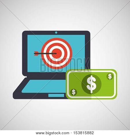 business strategy technology dollar money vector illustration eps 10