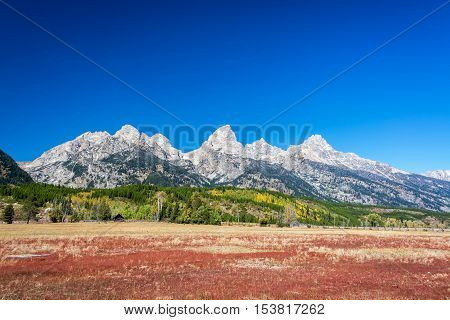 Colorful Teton Range Landscape