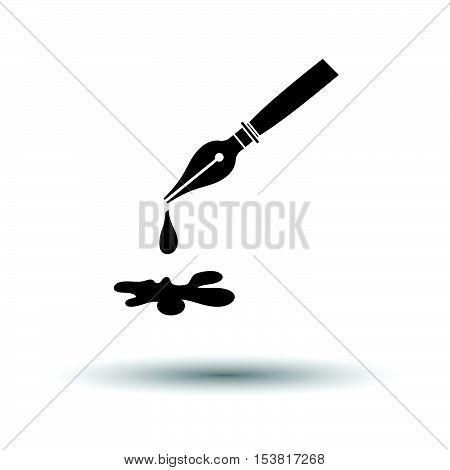 Fountain Pen With Blot Icon