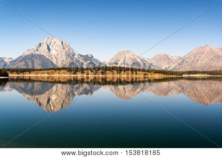 Beautiful Teton Range Reflection