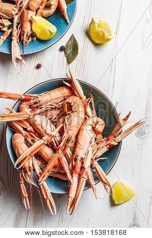 Lobster With Lemon As A Seafood Dish