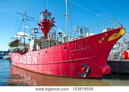 Gothenburg SWEDEN - OCTOBER 20: Ship in the maritime experience centre in Gothenburg