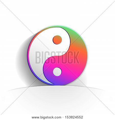 Yin Yang Icon Paper