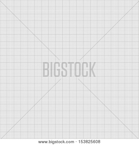 Millimeter paper grid texture background. Vector illustration