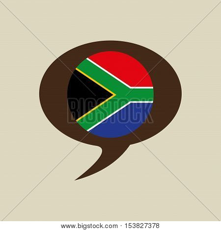 globe sphere flag southdafrica country button graphic vector illustration eps 10