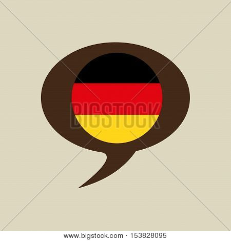 globe sphere flag germany country button graphic vector illustration eps 10