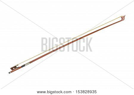 Violin Bow On White Background