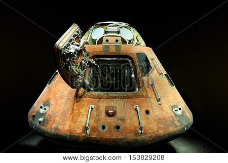 space ship cockpit isolated on black backgroud