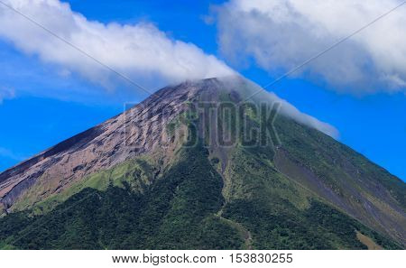 volcan concepcion in detail from Ometepe in Nicaragua poster