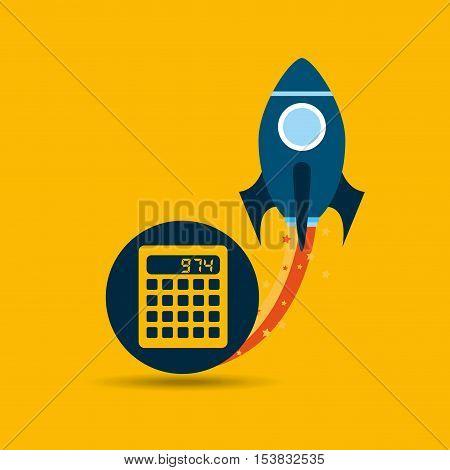 start up globe business calculator vector illustration eps 10
