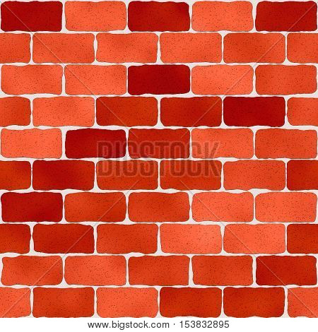Bright red brick wall pattern abstract seamless texture