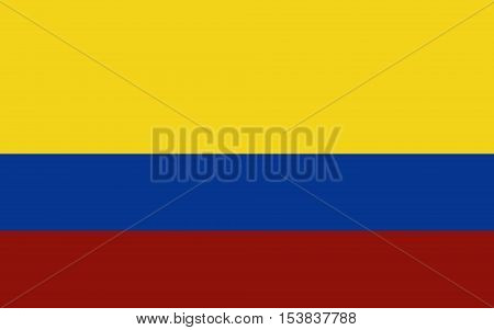 Colombia Flag - Vector Illustration Vector Illustration of Colombia Flag Icon