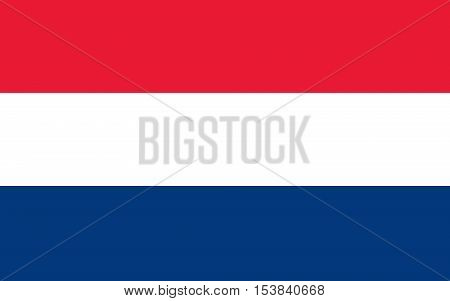 Netherlands; Holland; Dutch Flag vector image,Flag of the Netherlands. Accurate dimensions, elements proportions and colors.