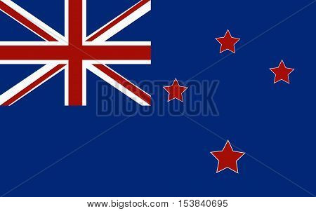 New Zealand Flag,New Zealand Flag Vector,Flag of the country new zeland. illustration. Exact colors.