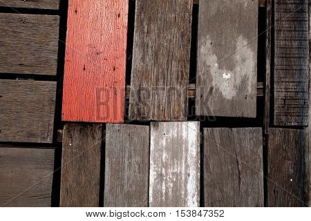 Old rough wood board background texture.architecture detail