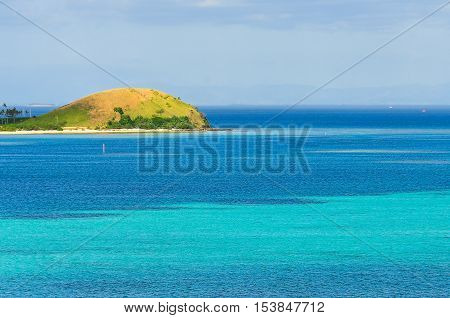 Panorama From The Viewpoint On Mana Island, Fji