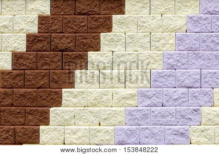 patterned of brick wall Beautiful color background