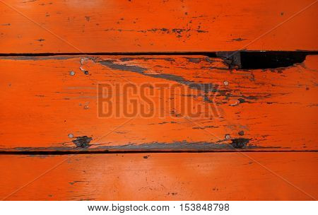Old Wood Board Painted Red