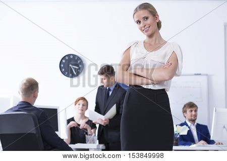 Young Female Businesswomen At Work