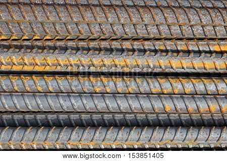 Reinforcing Steel Bar background, Rebar for concrete construction work