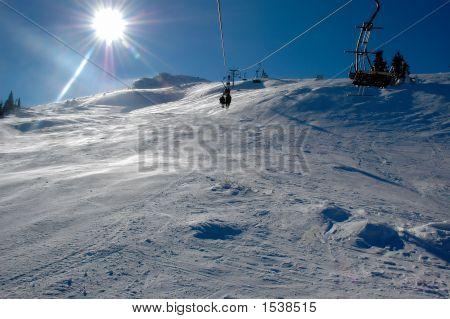 Ski Lift In Vitosha, Bulgaria