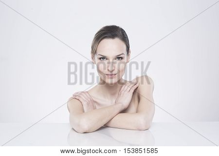 Naked Woman With Intriguing Look