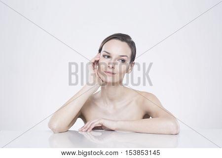 Thoughtful Pretty Woman
