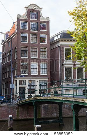 Traditional smal and cute house in Holland