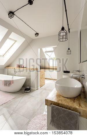 Bright Interior Of Bathroom