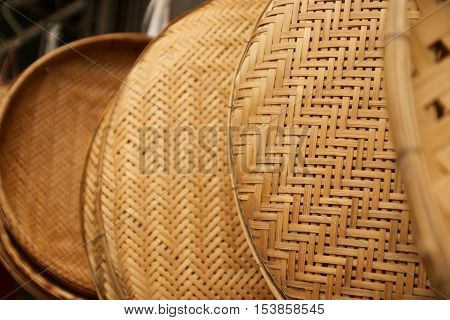 Threshing Basket at the market close up view
