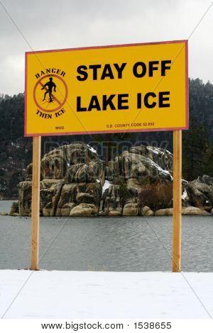 Lake Warning Sign