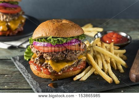 Homemade Cheese Smash Burger