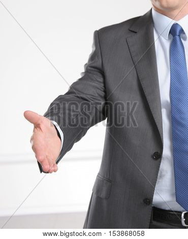 Handshake Of Two Businesman Isolated On White