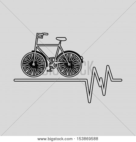 bycicle icon sport design graphic vector illustration eps 10
