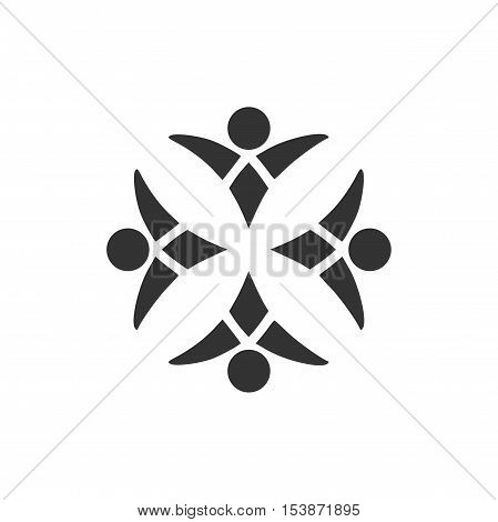 Community logo design, abstract community logo design
