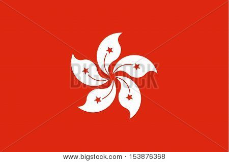 Official vector flag of Hong Kong . Hong Kong Special Administrative Region of the People's Republic of China