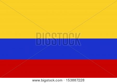 Columbia flag ,Columbia national flag illustration symbol.