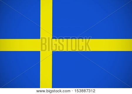 Sweden flag ,Sweden national flag illustration symbol.