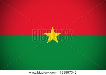 Burkina Faso flag ,Burkina Faso national flag illustration symbol.
