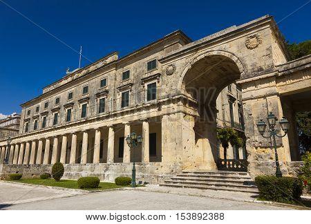 Palace of St. Michael and St. George Corfu Greece