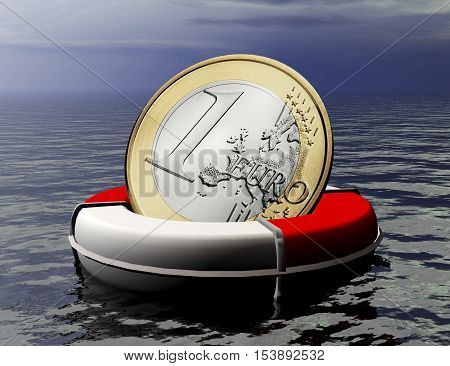 digital 3D Illustration of an Euro Salvage