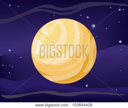 Pluto planet. Dwarf planet in Kuiper belt, ring of bodies beyond Neptune. Largest and second most massive dwarf planet in Solar System. Outer space, galaxy and earth. Sun system. Universe. Vector