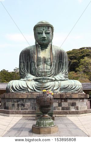 The Great Buddha Of Kamakura (kamakura Daibutsu)