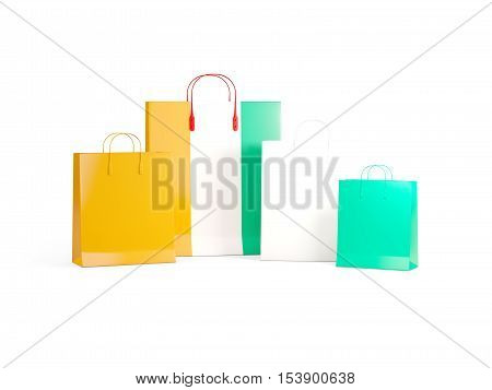 Flag Of Cote D Ivoire On Shopping Bags