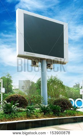 Large-scale outdoor display of modern city led blank.