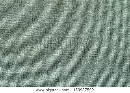 Fabric Texture Close Up of Green Canvas Fabric Pattern Background.