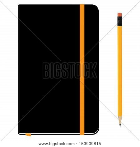 Notebook Moleskin And Pencil