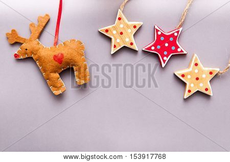 Hand Made Christmas Decoration For Child Themed Christmas Background