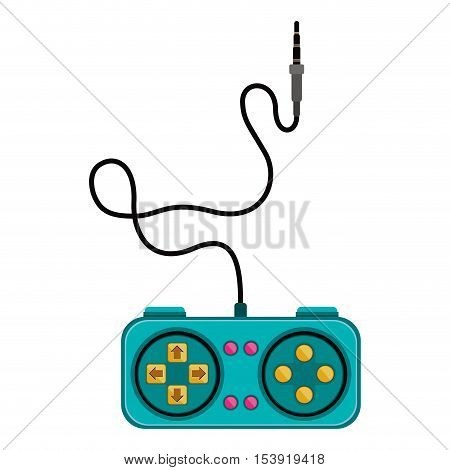 remote control games with rectangle form vector illustration